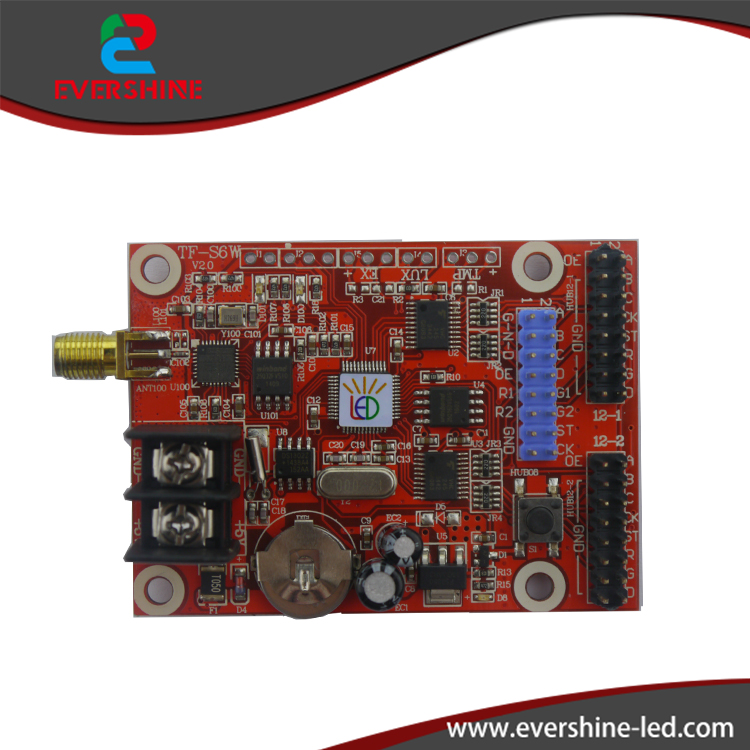 TF-S6W WIFI <font><b>led</b></font> controller 1152*16, 576*32 dots single&#038;dual color Wireless <font><b>LED</b></font> display module board p10,p13.33,<font><b>p16</b></font>,p4.75 support