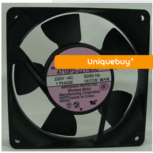 For NMB Double ball bearing 14/11W 4710PS-22T-B30 12cm 220V cooling fan