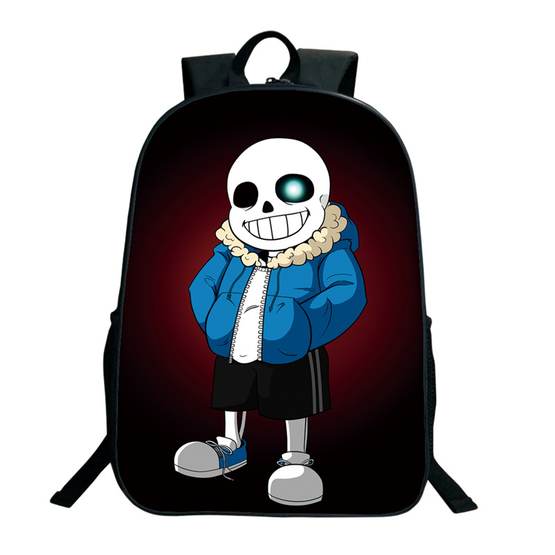 2018 Anime Undertale Backpack For Teenage Girls Boys Sans Printing Bag Women Mochila Men Travel Bag Children School Backpacks