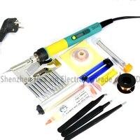 936d 새로운 업 그레 이드 cxg 936d + lcd 조정 가능한 온도 디지털 전기 납땜 인두 세트 전자 용접 수리 도구 키트
