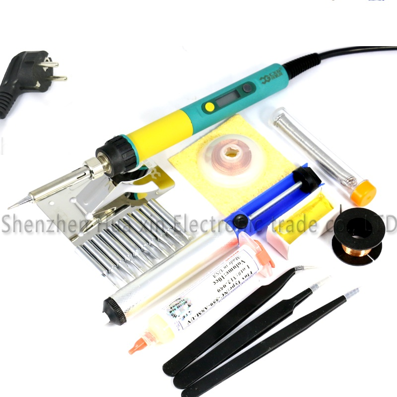936d New Upgrade CXG 936d+ LCD Adjustable temperature Digital Electric Soldering iron set Electronic welding repair tools kit cxg 936d digital adjustable temperature electric soldering station electric soldering iron 60w solder tip solder wire rosin