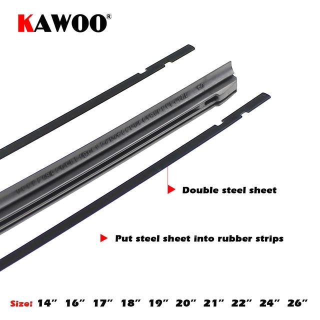 """KAWOO voiture véhicule insérer bande de caoutchouc lame d'essuie-glace (recharge) 8mm doux 14 """"16"""" 17 """"18"""" 19 """"20"""" 21 """"22"""" 24 """"26"""" 28 """"1 pièces accessoires 3"""