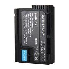 1 шт. 2550 мАч en-el15 батарея цифровой камеры аккумулятор для nikon d600 d610 d600e d800 d800e d810 d7000 d7100 v1 d750