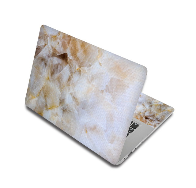 White And Gold Marble Laptop Skin Sticker For Laptop And Macbook 1