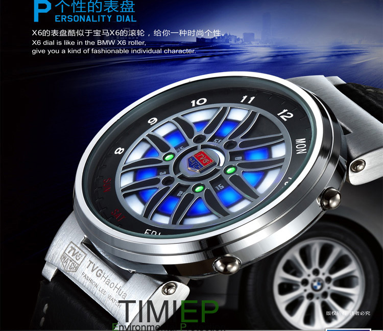 Cheap Sale Tvg Mens Fashion Pride New Design Led Watch Binary Mens Sport Watches X6 Waterproof Wholesale China Pure Whiteness Men's Watches Digital Watches