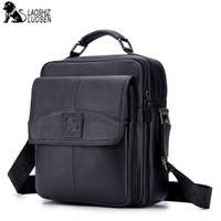 MEN'S New Vintage Genuine Leather Messenger Bag Men Casual Business Travel male Shoulder Bags Handbag Cowhide Crossbody Bags