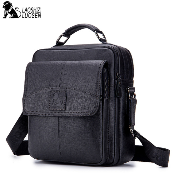 MEN'S New Vintage Genuine Leather Messenger Bag Men Casual Business Travel male Shoulder Bags Handbag Cowhide Crossbody Bags men shoulder bags genuine leather vintage male business messenger bags vogue multifunction casual travel crossbody pack rucksack