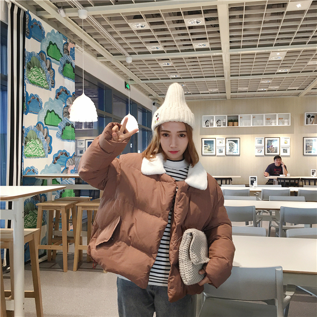 Winter Women Clothing Fashion Doll With Thick Cotton-padded Clothes Get Relaxed Joker Silk Floss Bread Short Cotton-padded Coat