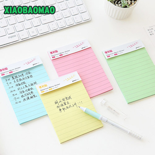 Classic Paper Notepad Lines Memo Pad Square Size Memo Pads Sticky