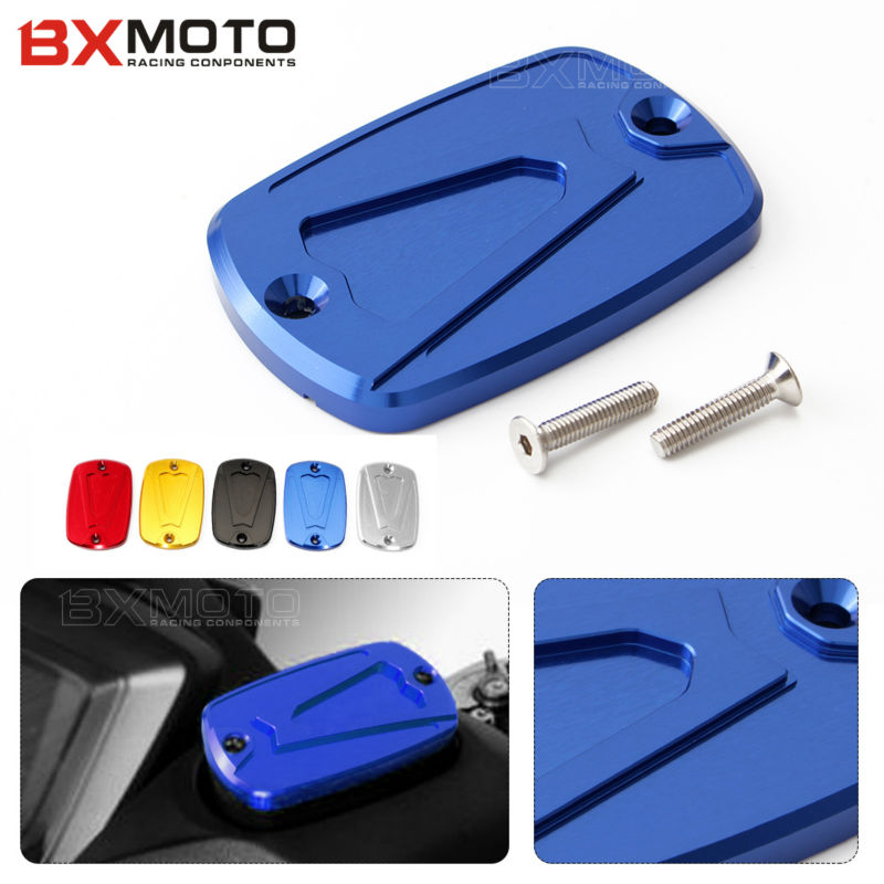 For Yamaha T-max 500 2008-2011 T-max 530 2012-2015 fashion Motorcycle accessories Blue Brake Fluid Reservoir Cap cover motorcycle cnc front brake fluid reservoir cap cover for yamaha t max 530 500 tmax530 xp530 2012 2016 tmax500 xp500 2008 2011