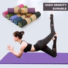 1830*610*6mm Yoga Mat Flat Anti-slip Support Fitness Mats for Beginner Multifunctional TPE Environmental Protection Odorless A