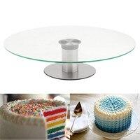 Carrinho do bolo Turntable Prato Do Mouse Sobre A Imagem Para Zoom 360 Rotativo Exibição Sobremesa Queque Festa de Aniversário de Casamento 30 cm