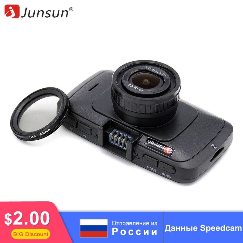 Junsun Ambarella A7LA70 Car DVR Dash Camera GPS with Speedcam CPL Full HD 1080p 60Fps Video