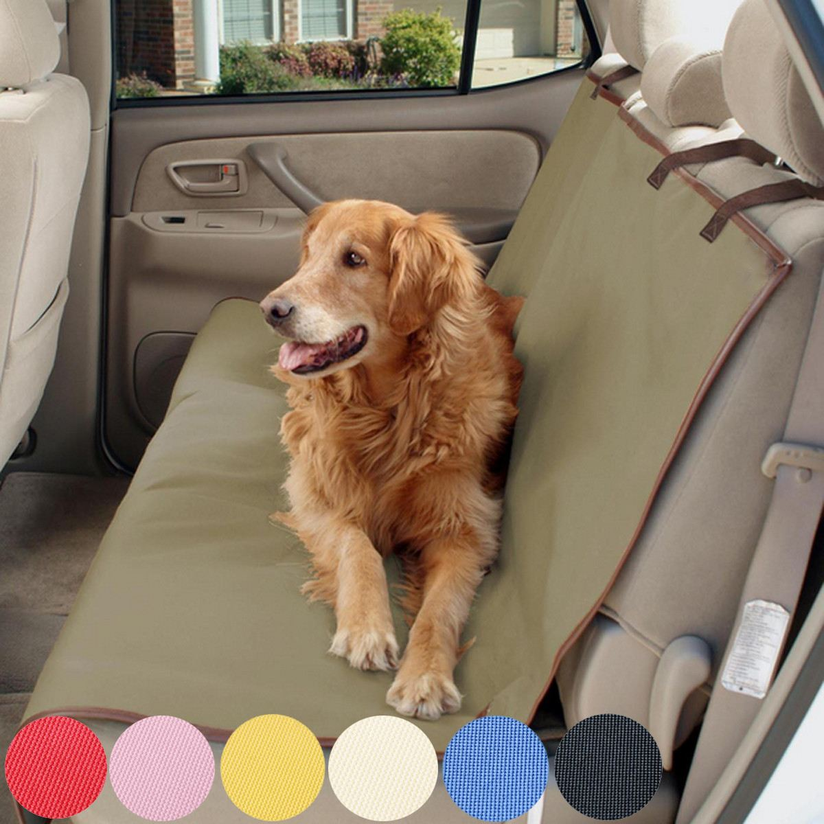 Car Seat Protector Waterproof Pet Car Backseat Mat Cover Pet Car Dog Cat Back Seat Travel Outdoor Cover Puppy Safety anna baiguera эспадрильи