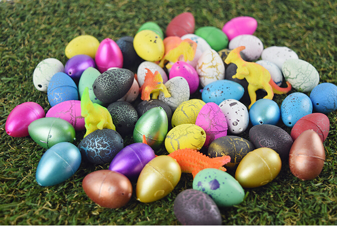 120 pcs/set Hatching Colorful Dinosaur Add Cracks Grow Eggs Magic Water Growing Dino Egg Cute Children Kids Toy For Boys hot