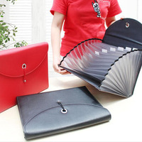 5pcs Fashion PU Leather File Bag Document Bag 33*24.7*4.5cm Documents Folder For A4 Office And School Supplies ZA6337