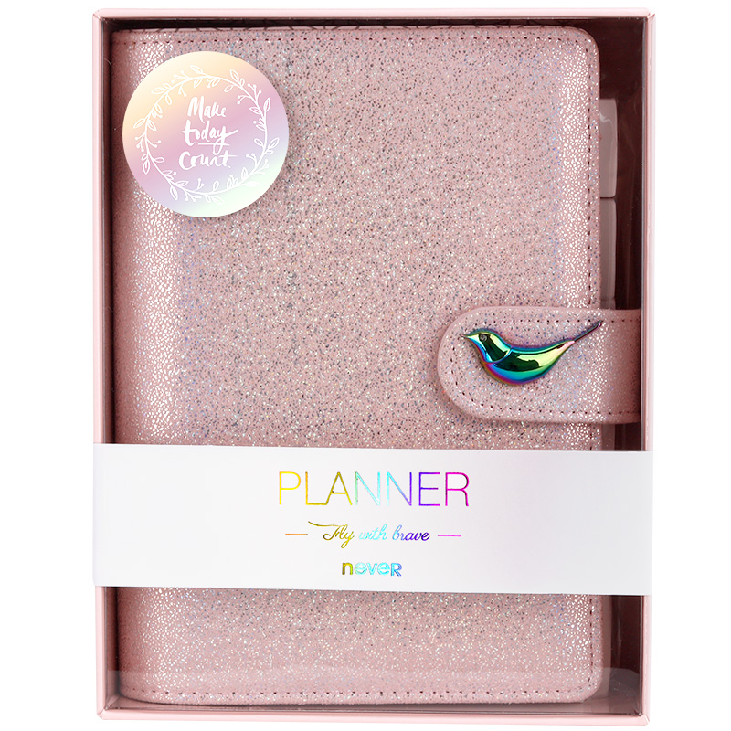 Never Fly Bird Series A6 Spiral Notebook Binding Planner Organizer Daily Dotted Paper Office & School Supplies Gift Stationery