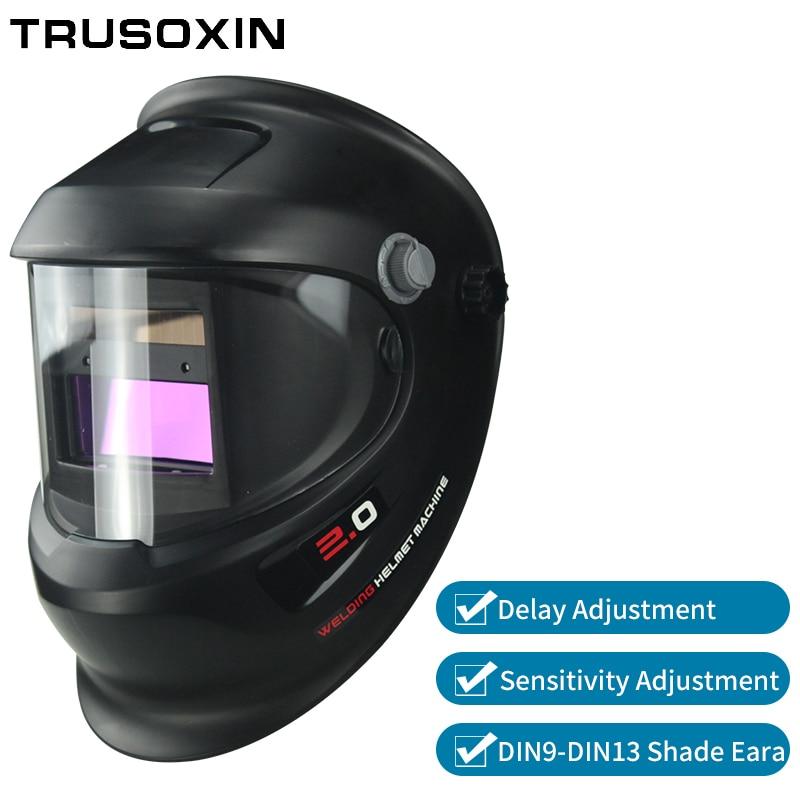 DIN9-DIN13 Solar Auto Darkening TIG MMA ZX7 MIG Welding Mask Welding Helmet Welder Cap Glasses