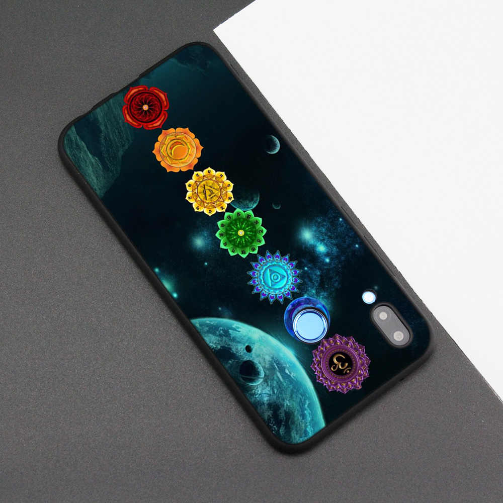 Silicone Case Cover for Huawei P20 P10 P9 P8 Lite Pro 2017 P Smart+ 2019 Nova 3i 3E Phone Cases mandala chakra yoga