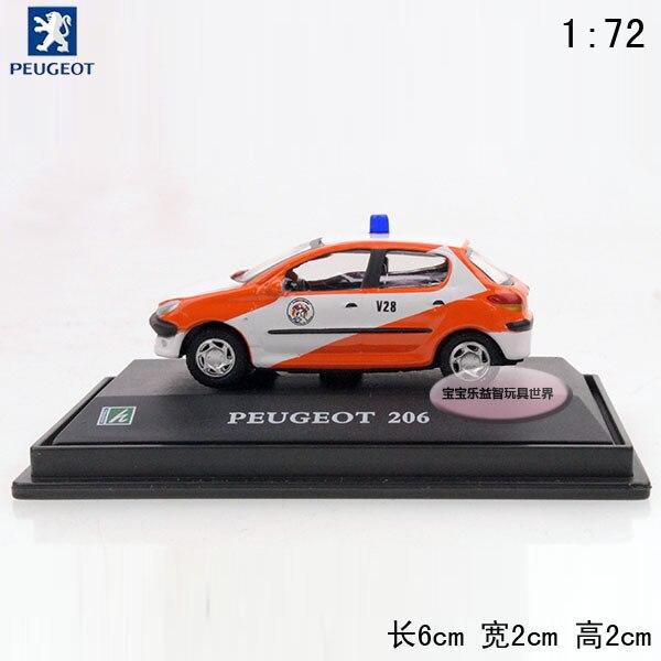 Peugeot  206 orange pocket-size baby alloy car model free air mail