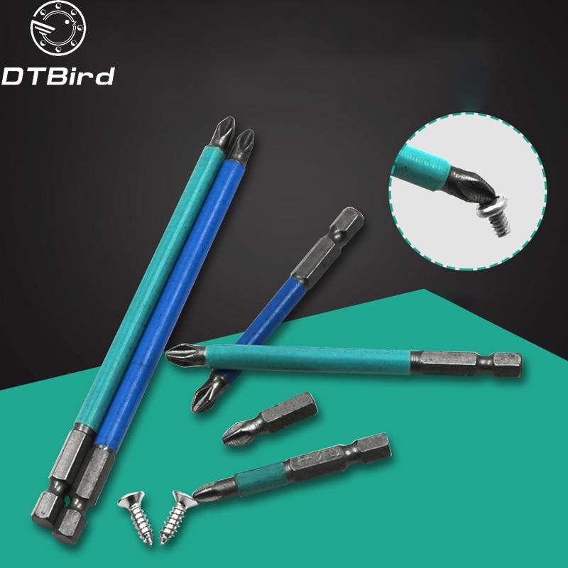 5PCS/1PCS S2 Magnetic Anti-skid Hex Shank Cross Head Screwdriver Batch Nozzle Head PH2*25mm PH2*50mm Hand Tools Set