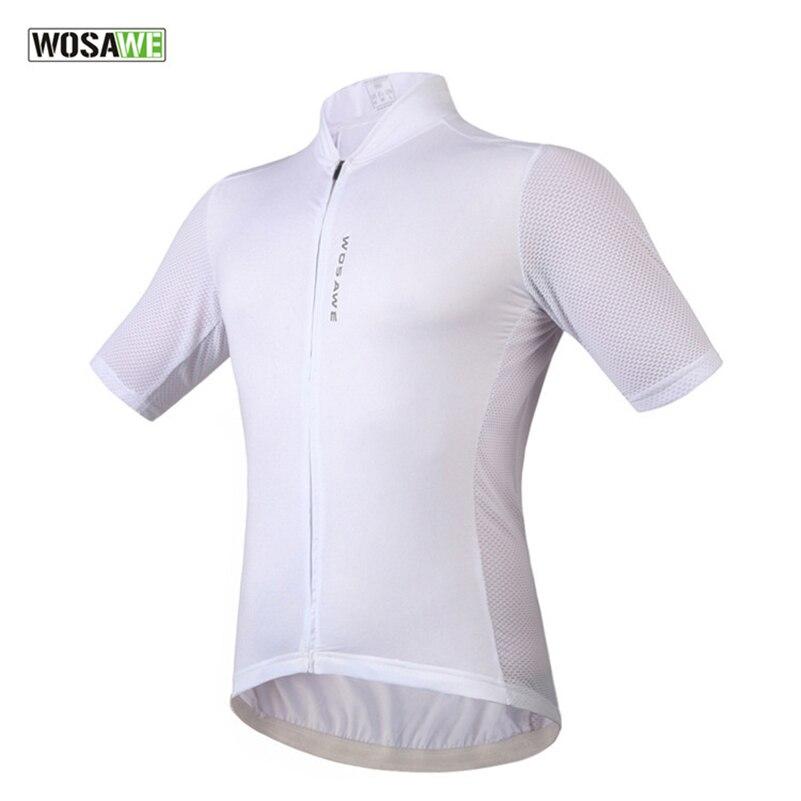 Prix pour WOSAWE D'été Hommes Manches Courtes Maillot Quick-Sec Montagne Route VTT Vélo Vélo Sportwear Ciclismo Clothing Chemises Courtes