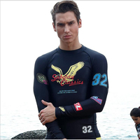 SABOLAY Rash Guard Long Sleeved Swim Suit For Men Sunscreen Prevent Jellyfish Quick Drying UV Protection