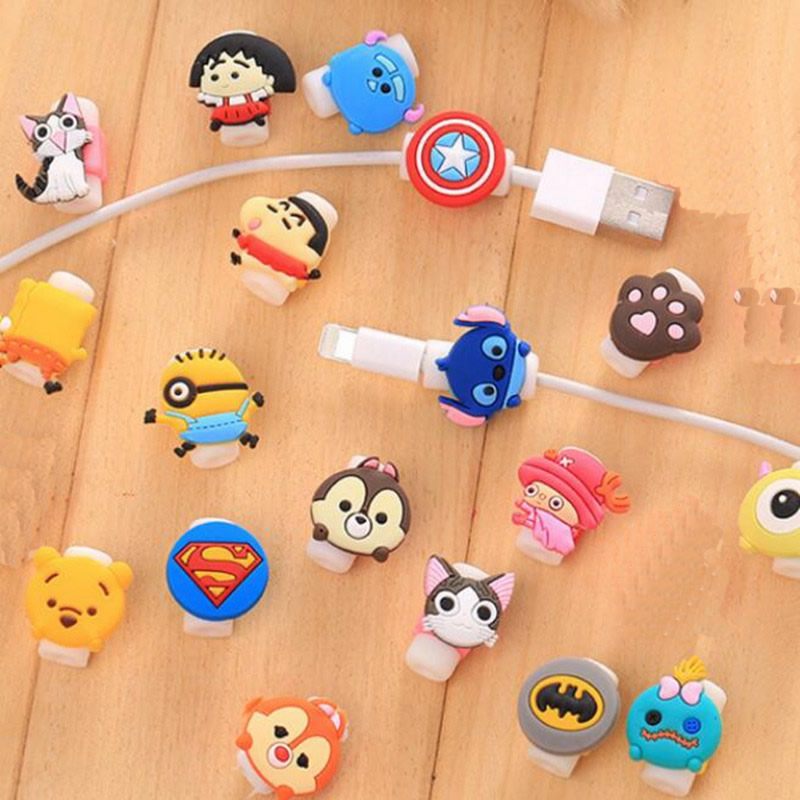 Desktop CartoonHome Office Storage USB Cable Cable Winder Wire Organiser Phone Holder Data Line Protective Cover Storage Rack