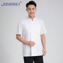 Unisex Short Sleeve Chef Cooking Jacket Summer Food Service Restaurant Chef Uniform Hairdressers Salon Shirt Free Scarf Gift