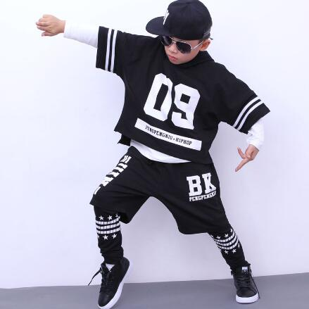 New 2018 Kids Hip Hop Costume For Boys Children Street Dance Clothing Set 6 8 10 12 14 Years Boys Sports Suit Clothes kids hip hop dance costumes girls long sleeve sports suit children jazz hip hop dance clothes wear for girl 6 8 10 12 years