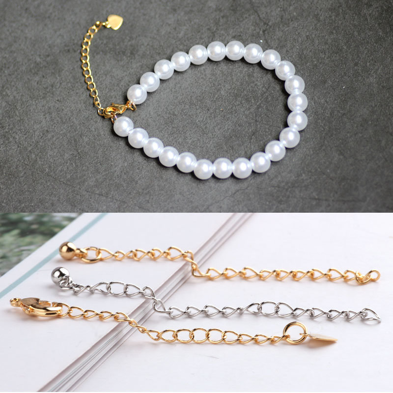 DIY Jewelry Material 18K Genuine Gold Color Protection Belt Lobster Button Adjustment Chain Tail Extension Necklace  Accessories
