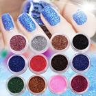 12 PCS MIX COLOR GLITTER DUST POWDER SET for Nail Art ACRYLIC TIPS DECORATION nail acrylic nail glitter dust