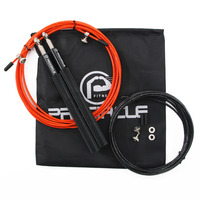 Procircle Crossfit Jump Rope Adjustable Jumping Rope Training Aluminum Skipping Rope Finess Black