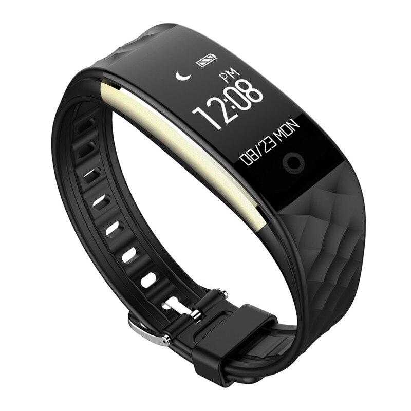 Heart Rate 0 96 inch Bluetooth 4 0 LED Swimming Diving Waterproof Smart Wrist Watch Bracelet