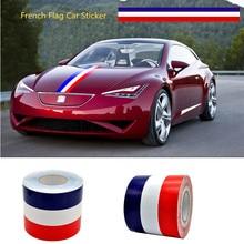 Фотография Car-styling 1.5M/2M/3M French Flag Stripe Car Hood Vinyl Sticker Body Decal For BMW Audi MINI Mercedes Porsche Volkswagen