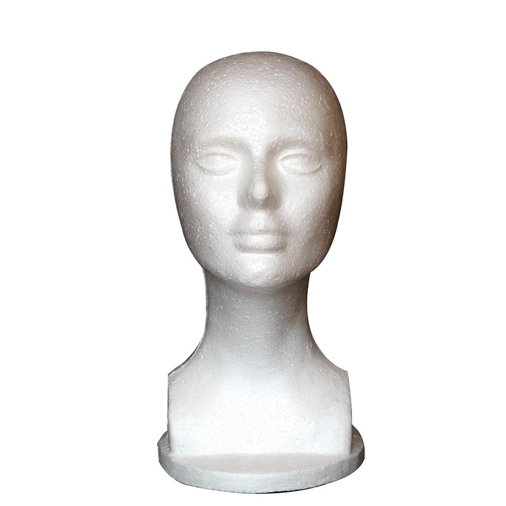 Женский Пена манекен голова модель магазин парик Украшения для волос Дисплей стенд