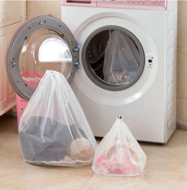 Grande Capacidade de Malha Underwear Bra Calcinhas Meias Saco Luandry Cordão Titular Máquina de Lavanderia Bolsa S/M/L de Lavar sacos #4