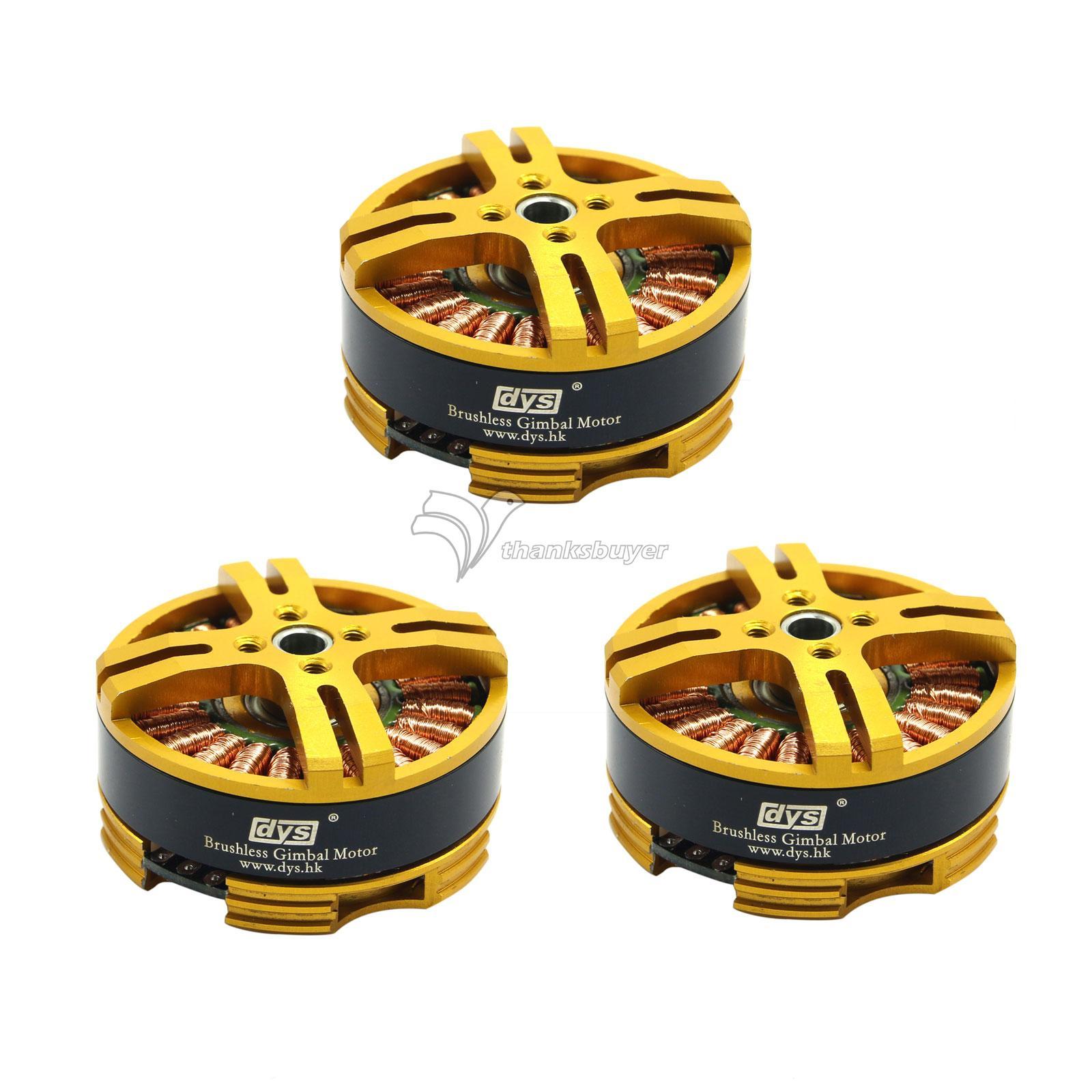 3pcs DYS Hollow Shaft Brushless Gimbal Motor BGM4108 130T for Sony NEX ILDC Camera Stabilizer Mount