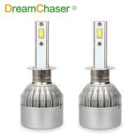 2Pcs C6F H1 LED Bulb Super Bright Auto Car Headlight 2X 36W 7600LM 6000K 12V 24V