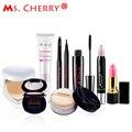 Sweet dating Make up Set BB Cream Blush Eyeliner Mascara Lipstick Finish loose Powder Kits for Lady Gift Pink Lady MC002