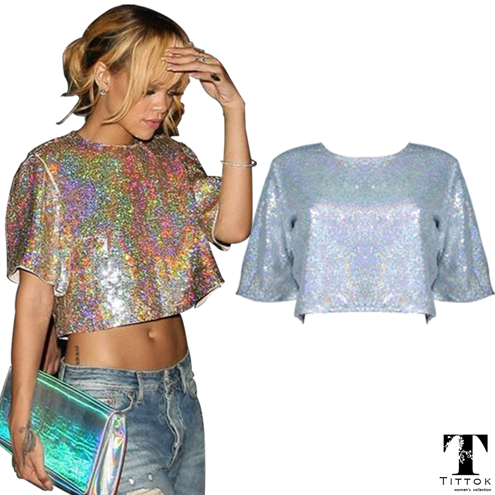 Bling Bling Sexy silver short sleeve Butterfly Sleeve ...