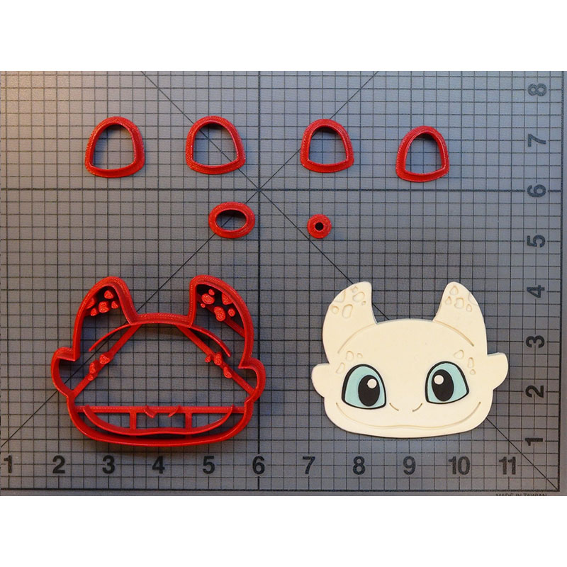 How To Train Your Dragon Cookie Cutter Fondant Cupcake Top Molds Made 3D Printed Cake Decorating Tools Cortadores De Fondant