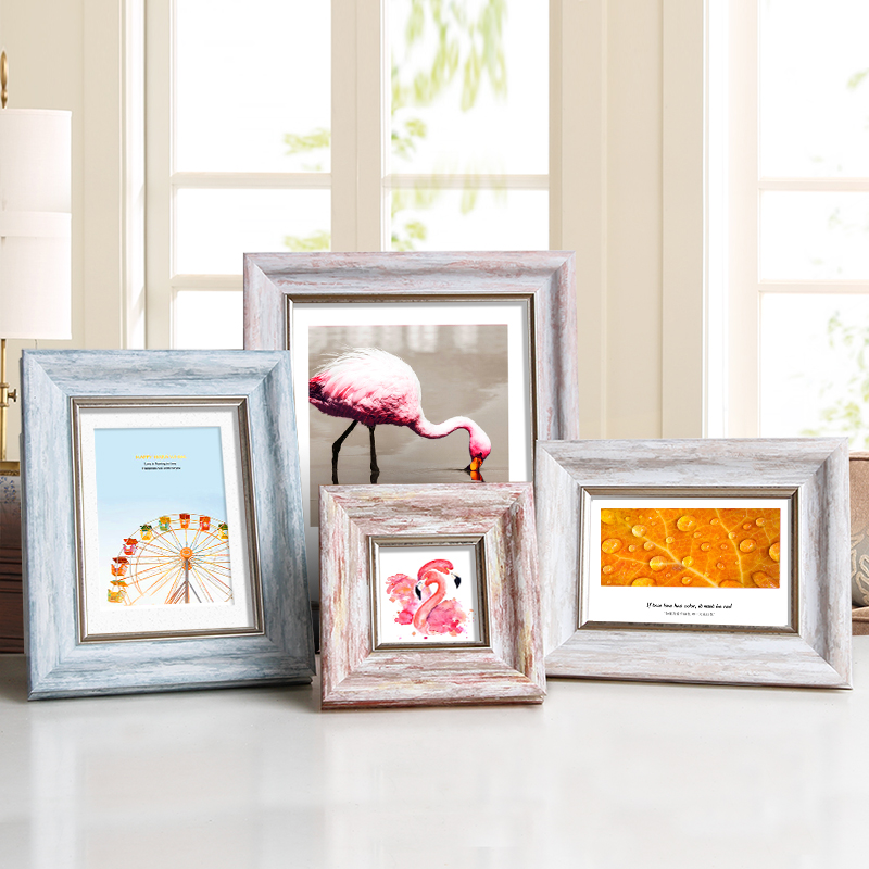 Aesthetic Photo Frame For Home Decor Quality Plastic Table/ Wall Hanging Picture Frames Vintage 4 Colors Party Casamento Desktop little book of earrings