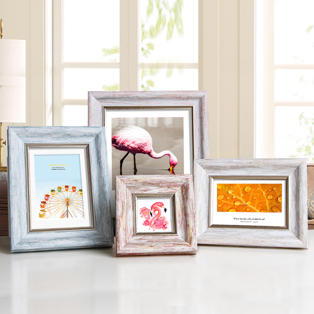 Aesthetic Photo Frame For Home Decor Quality Plastic Table Wall Hanging Picture Frames Vintage 4