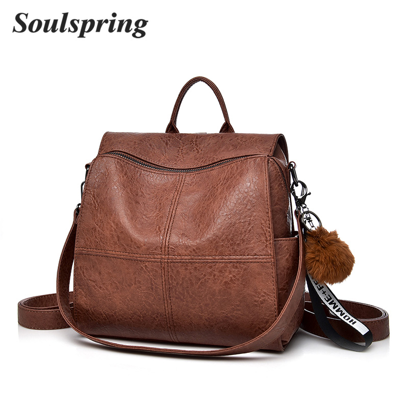 New Hot Fashion Women Backpack Genuine Leather Backpack Women Shoulder Bag School Sheepskin Real Leather Backpack Female