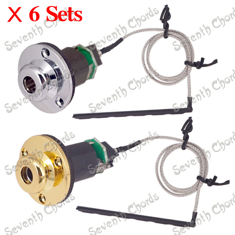 6 set do not need battery acoustic guitar under saddle pickup pick up piezo cable stick. Black Bedroom Furniture Sets. Home Design Ideas
