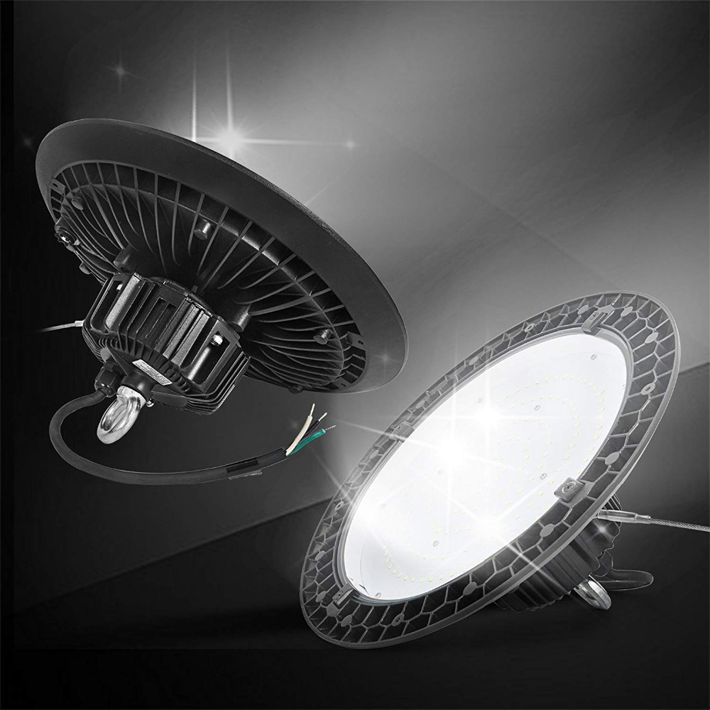 LED High Bay Light, 100W UFO High Bay LED Light, 13000LM 5000K Waterproof Warehouse LED Lights, Commercial Lighting, LED HighBay nickel bay nick