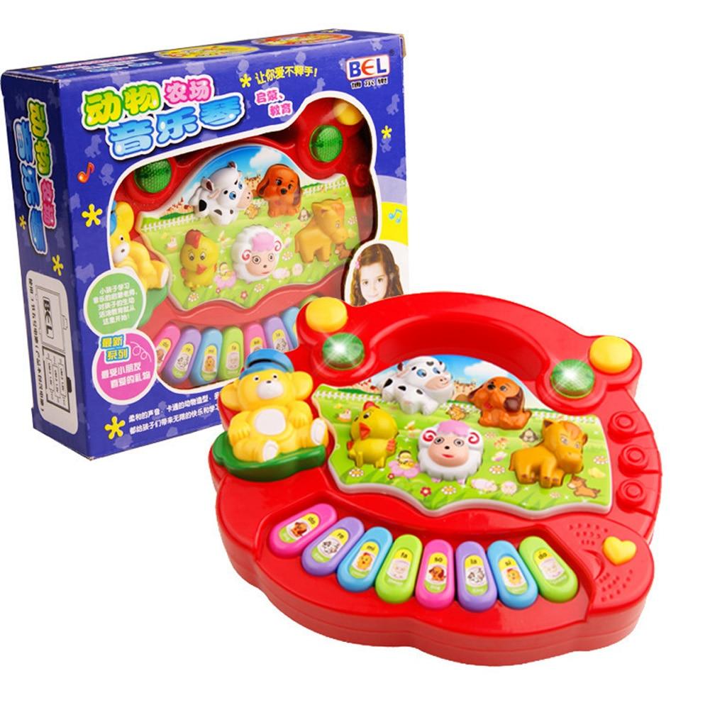 Bebé Animal Farm Pianos música Juguetes niños instrumento musical juguete educativo para niños cumpleaños Navidad regalos