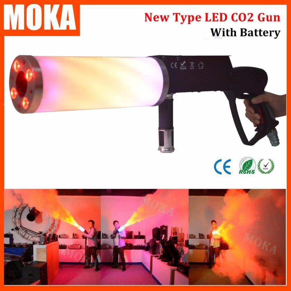 1 Pcs/lot LED CO2 Gun for dj  fogger CO2 Jet machine with rgb color changing handhold led co2 launcher flashlight