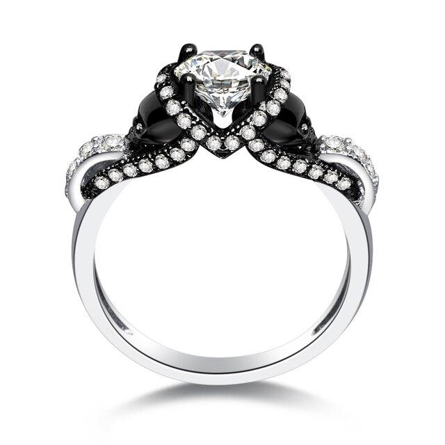 ROXI Women s Skull Ring White CZ Stone Punk Style Men Party Ring Birthstone  Black Skull Rings a7058ab7a9